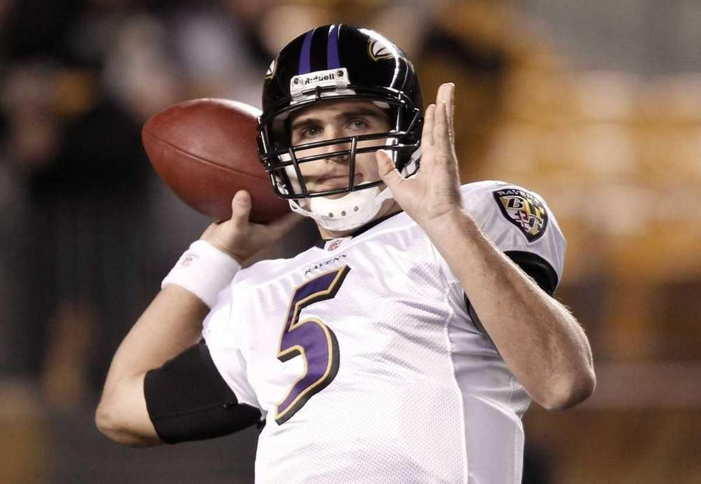 JOE FLACCO Ravens, 2008-10 Stats: 48 games, 878-for-1,416,