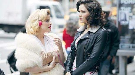 "Megan Hilty, left, and Katharine McPhee in ""Smash."""