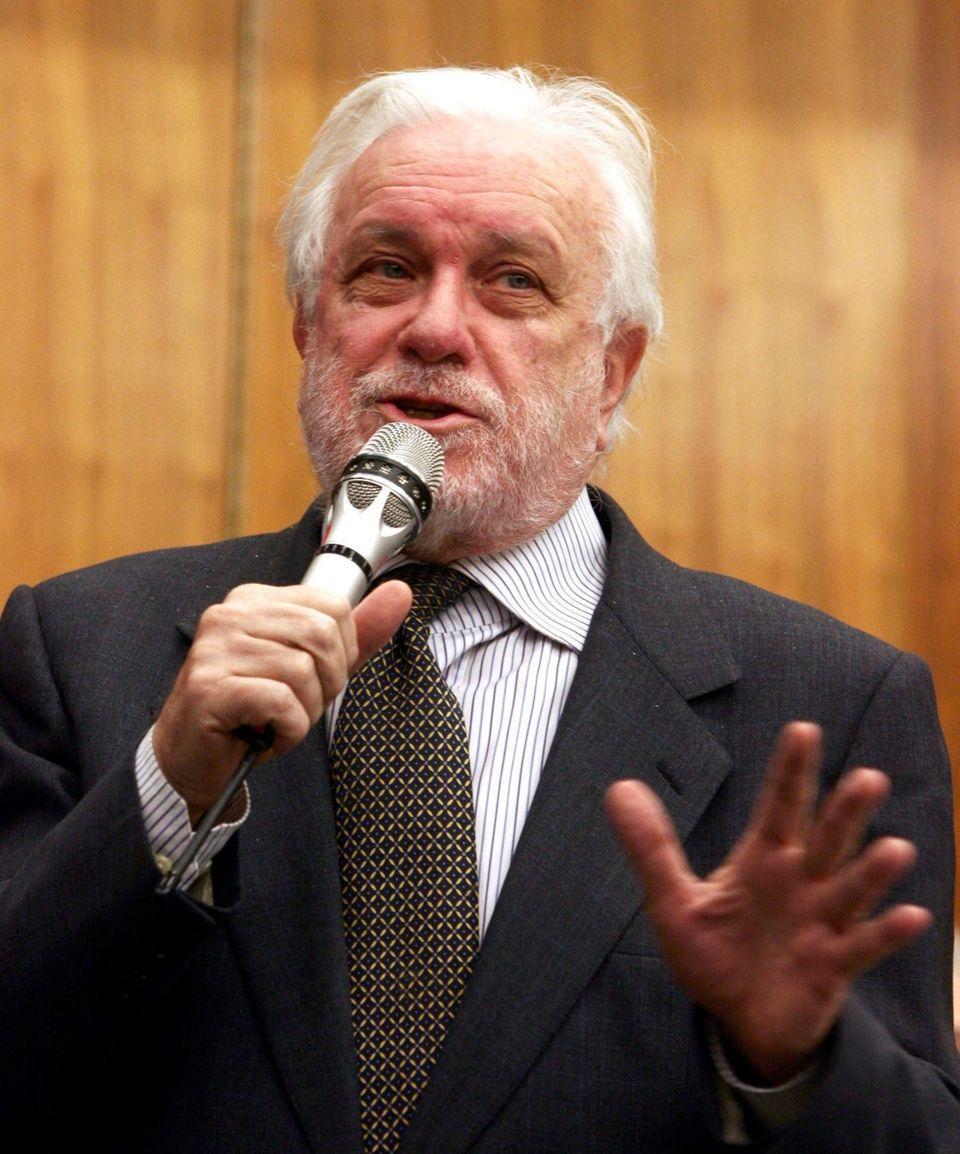 Luciano De Crescenzo, an Italian writer, actor and