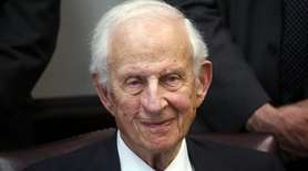 Former Manhattan District Attorney Robert M. Morgenthau, who