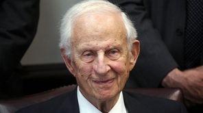Former Manhattan District Attorney Robert M. Morgenthau, who