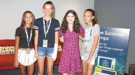 Kidsday reporters were in shorts at the coding