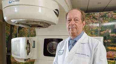 Radiation oncologist Dr. Roberto Lipzstein at the new