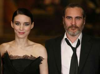Rooney Mara and Joaquin Phoenix attend the special