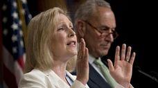 Sens. Kirsten Gillibrand and Chuck Schumer in Washington