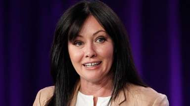 Shannen Doherty participates in a panel for