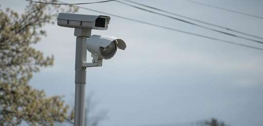 A red-light camera at Indian Head Road and