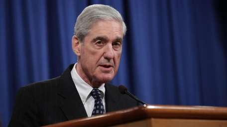 Special Counsel Robert Mueller makes a statement about