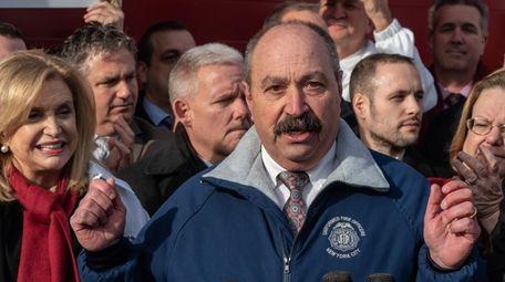FDNY Uniformed Fire Officers Association president Jake Lemonda