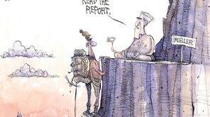 Matt Davies cartoon on Robert Mueller's upcoming congressional
