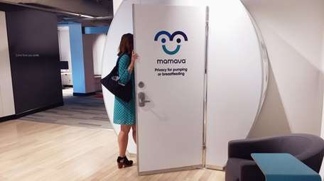 A private space for breastfeeding mothers, known as