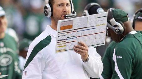 Offensive coordinator Brian Schottenheimer of the New York