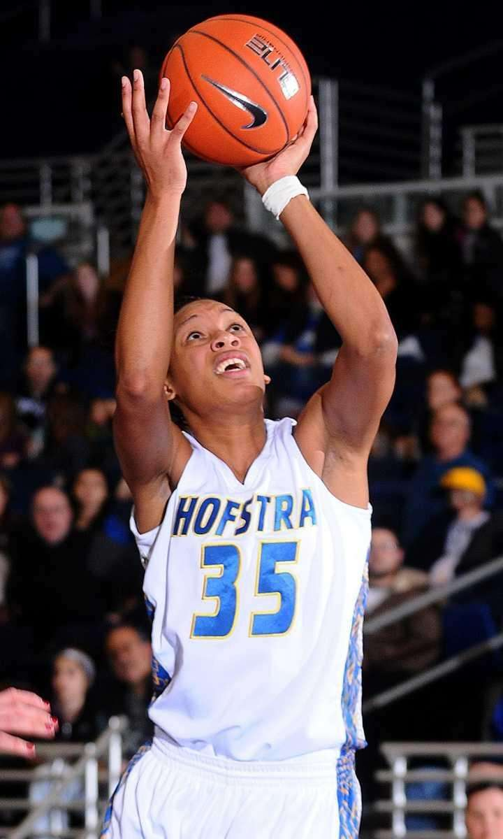 Hofstra University #35 Marie Malone drive to the