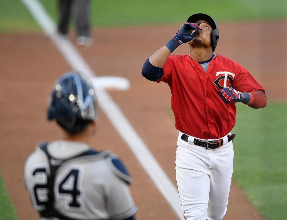 Yankees catcher Gary Sanchez looks on as Jorge