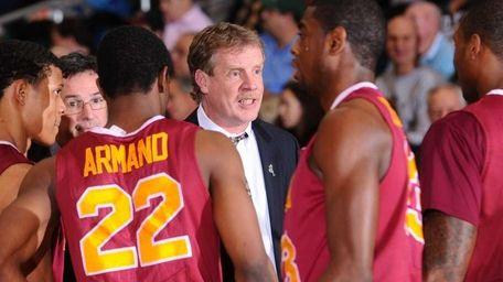 Iona College men's basketball head coach Tim Cluess
