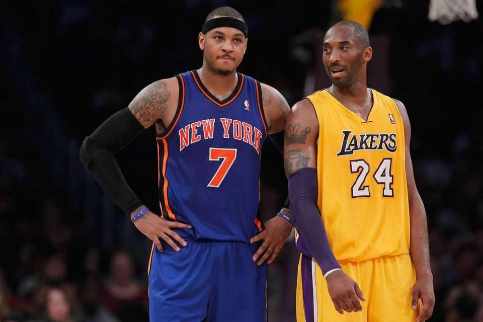 Carmelo Anthony of the Knicks and Kobe Bryant