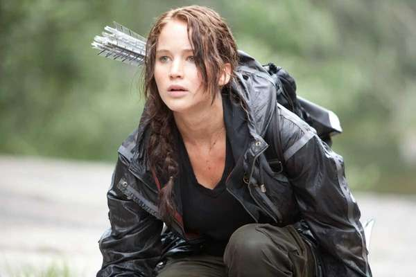 "Jennifer Lawrence stars as Katniss Everdeen in ""The"