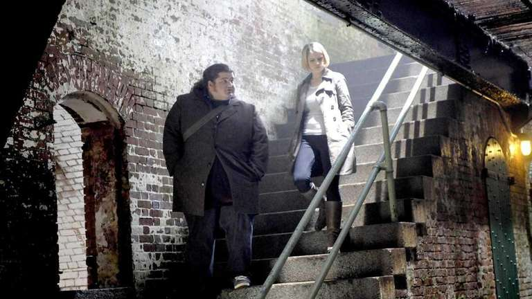 Jorge Garcia and Sarah Jones are pictured in