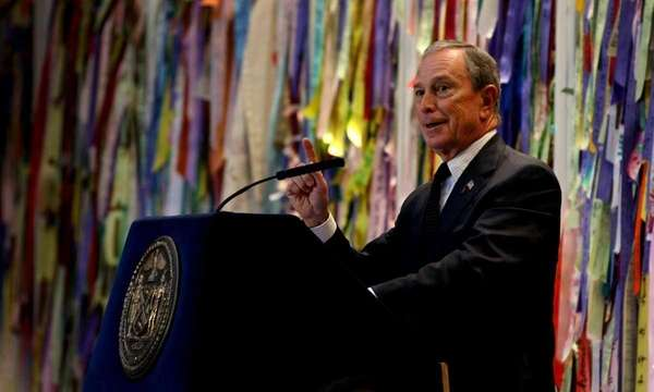 Mayor Michael Bloomberg speaks to New York City