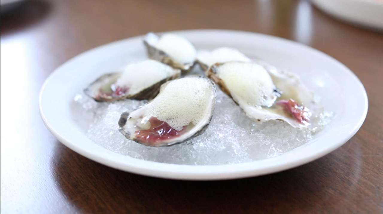 The menu for Anker in Greenport is a