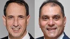 James Altadonna Jr., left, Democratic candidate for Oyster