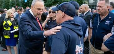 Senate Minority Leader Chuck Schumer (D-N.Y.) with the