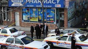 Nassau police respond to the scene of a