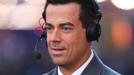 Host Carson Daly on stage during New Year's