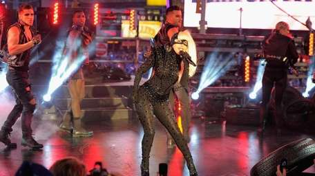Singer Lady Gaga performs at New Year's Eve