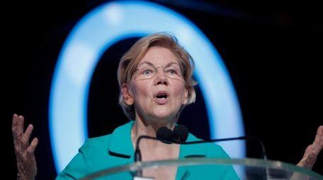 Democratic presidential candidate, Sen. Elizabeth Warren, D-Mass., speaks