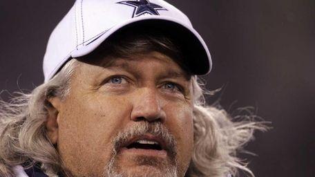 Dallas Cowboys defensive coordinator Rob Ryan waits for