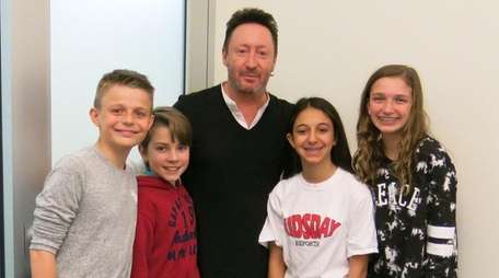 Musician and writer Julian Lennon with Kidsday reporters,