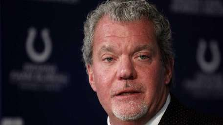 Indianapolis Colts owner Jim Irsay announces that Colts