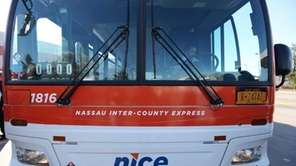 A new Nassau Inter-County Express (NICE) bus in
