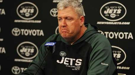Jets head coach Rex Ryan at the Jets