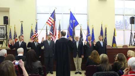 Glen Cove City Council is sworn into office