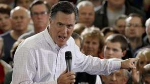 Republican presidential candidate Mitt Romney speaks during a