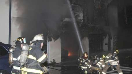 About 150 firefighters fought in Wednesday night's humidity
