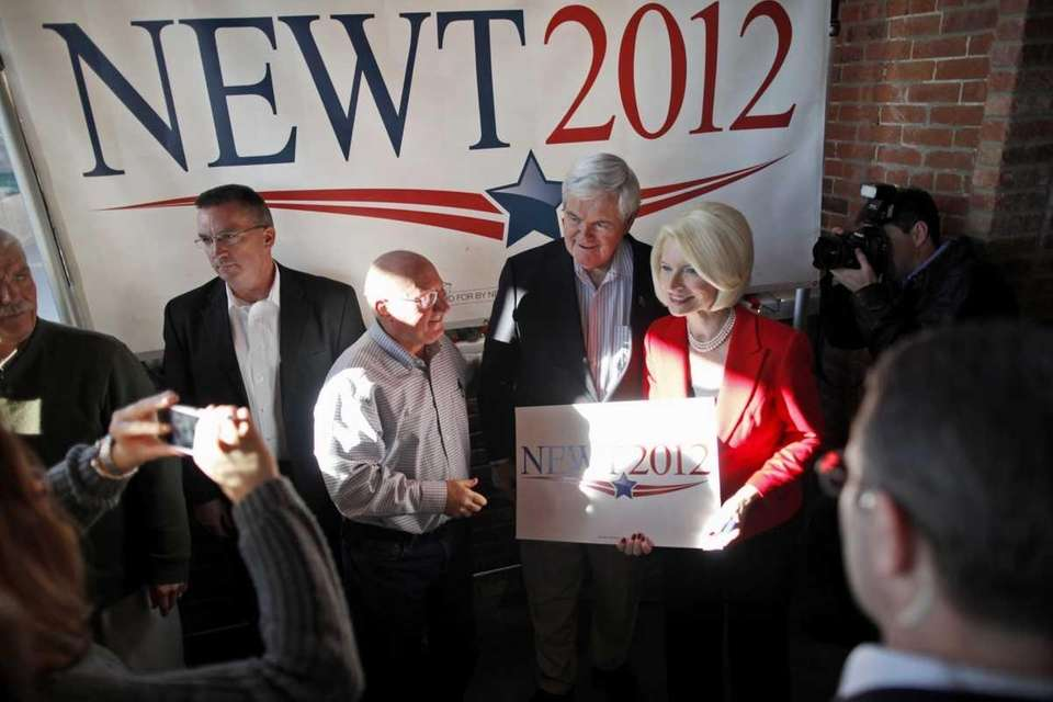 Republican presidential candidate Newt Gingrich, and his wife