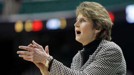 Cathy Inglese, then the women's basketball head coach