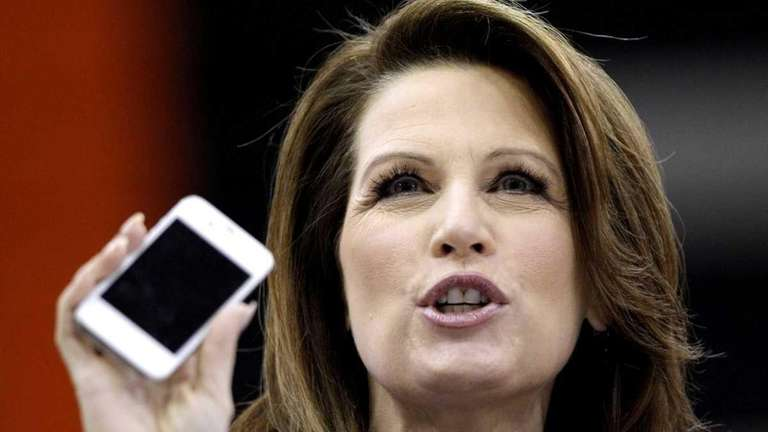 Republican Party presidential hopeful Michele Bachmann speaks during