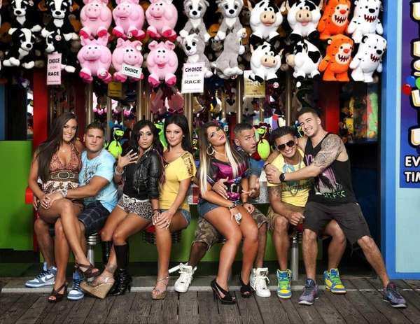 "The cast of MTV's ""Jersey Shore,"" from left,"