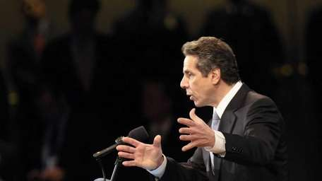 New York Gov. Andrew Cuomo delivers his first