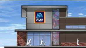 Discount grocer Aldi, seen in this artist's rendering,