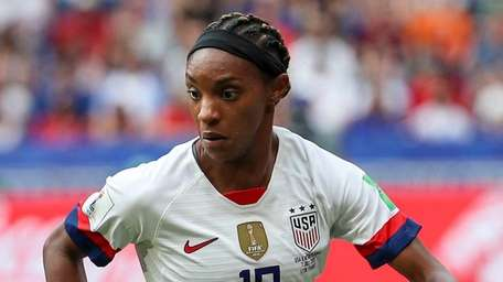 Crystal Dunn in action during the FIFA Women's