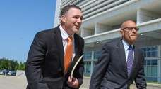 Former Suffolk County Police Officer Christopher McCoy, left,