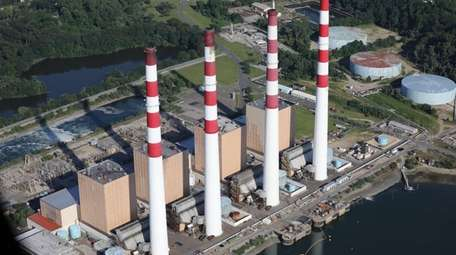 The LIPA Power Plant in Northport is shown