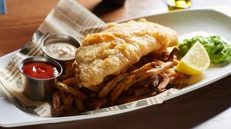 Cod fish and chips at Kingfish Oyster Bar