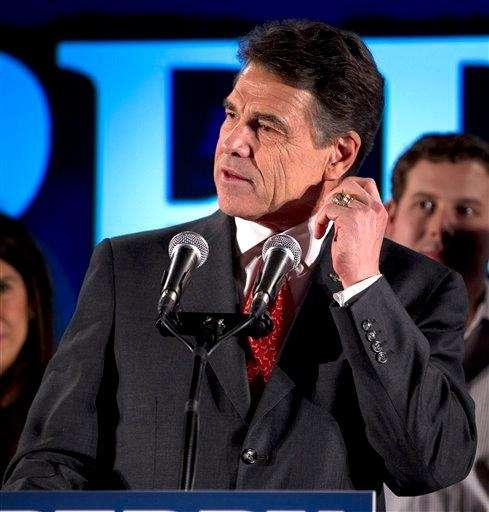 Texas Gov. Rick Perry pauses during remarks