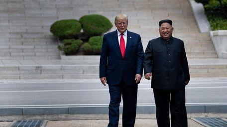 President Donald Trump and North Korea's leader Kim